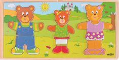 Woody Šatníková skriňa Obleč si svoju medvediu rodinku