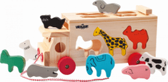 Woody Kamión s vkladacími tvarmi - zvieratká