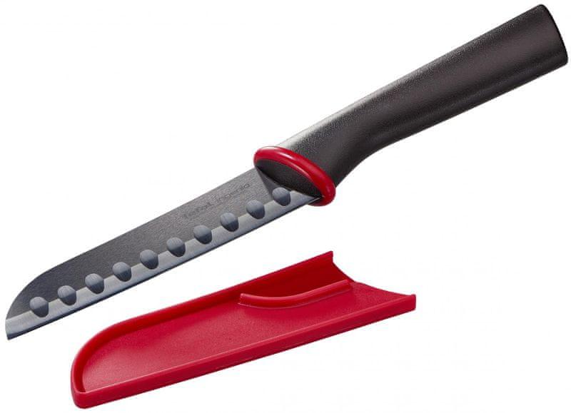 Tefal Ingenio černý keramický nůž santoku 13 cm K1520414