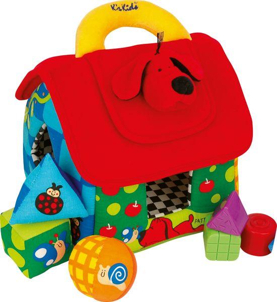 K´s Kids Velký barevný domeček PATRICK pro rozlišování geom. tvarů