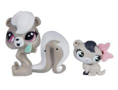 Littlest Pet Shop Zwierzaki z akcesoriami Pepper i Ferret