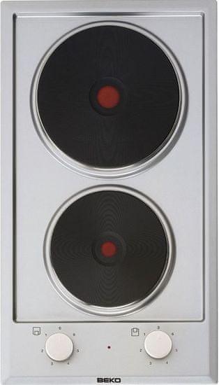 Beko električna kuhalna plošča Domino HDCE32201X, 30 cm