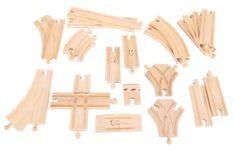Bigjigs Rail zestaw drewnianych torów - 25 elementów