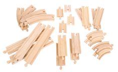 Bigjigs Rail Dřevěné vláčkodráhy Set 24 dílů