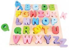 Bigjigs Toys Drewniana układanka - Alfabet