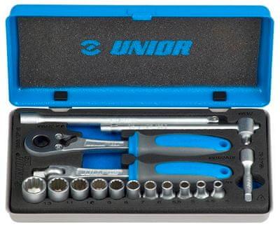 """Unior garnitura nasadnih ključev 1/4"""" v kovinski kaseti - 188BI12P16 (617118)"""