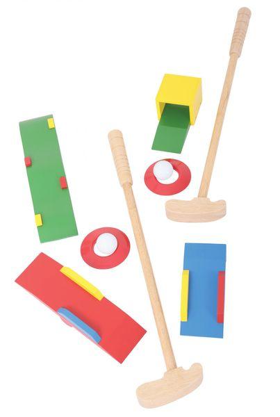 Bigjigs Toys Dřevěné hry - Sada Crazy golf