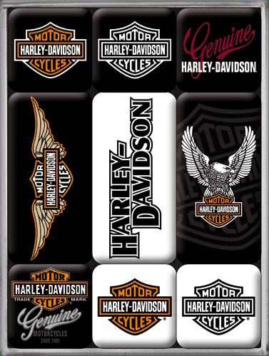Postershop Sada magnetů Harley Davidson 1