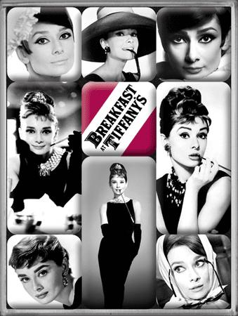 Postershop set magnetov Audrey Hepburn, 9 kos