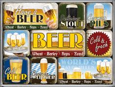 Postershop Sada magnetů Beer