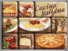 Postershop Zestaw magnesów Cucina Italiana