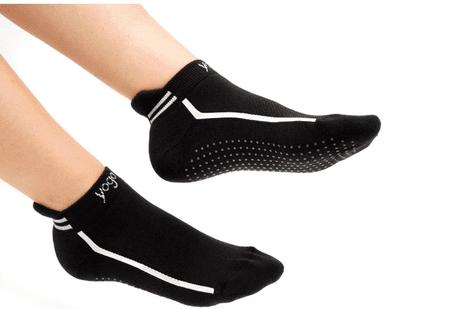 Sissel nogavice za jogo Yoga Socks, S-M (36-40), črna