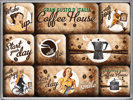 Postershop Zestaw magnesów Coffee House