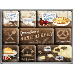 Postershop Sada magnetov Home Bakery