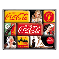Postershop Sada magnetov Coca-Cola (rôzne)