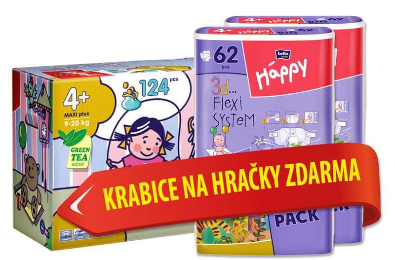 Bella Happy Maxi Plus Big Pack - 124 ks