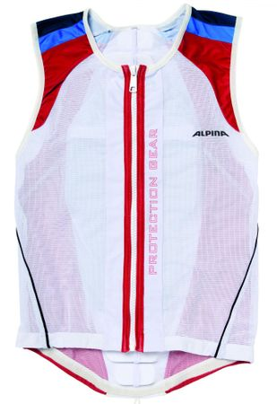 Alpina Jacket Soft Protector Soft White/Red/Blue M 173-178 cm