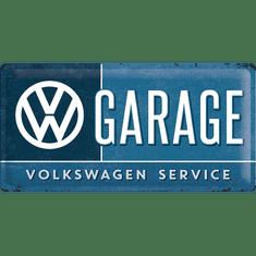 Postershop Plechová tabuľa 25x50 cm VW Garage