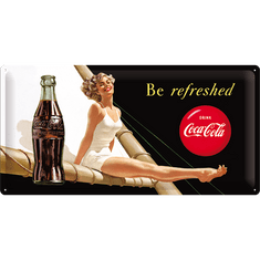 Postershop Metalowa tabliczka 25x50 cm Coca-Cola (Be Refreshed)