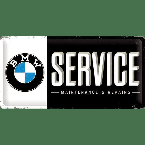 Postershop Plechová cedule 25x50 cm BMW Service