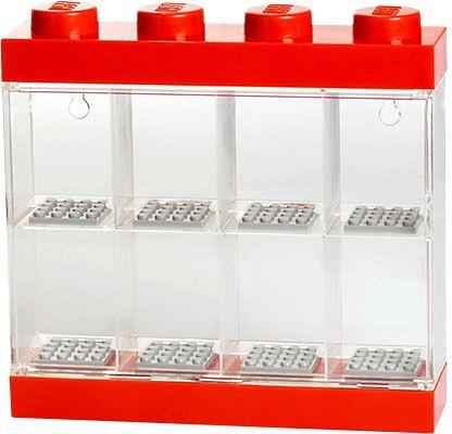 LEGO® Sběratelská skříňka na 8 minifigurek - červená