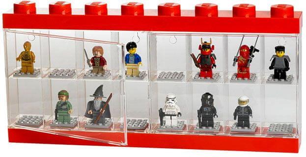 LEGO® Sběratelská skříňka 16 minifigurek - červená