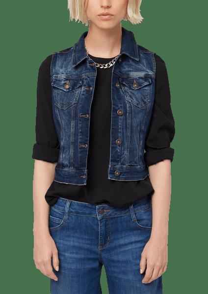 s.Oliver dámská jeansová vesta 36 modrá