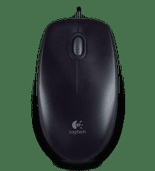 Logitech B100 Optical USB Mouse, černá (910-003357)