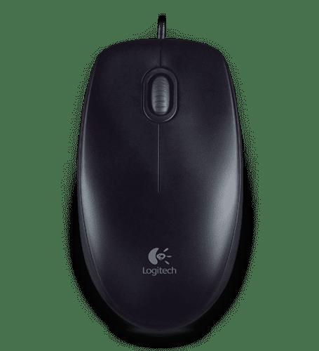 Logitech B100 optična miška, črna
