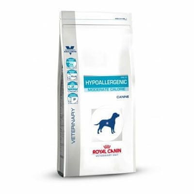 Royal Canin hrana za starejše in kastrirane pse VD Hypoallergenic Moderate Calorie, 14 kg - odprta embalaža
