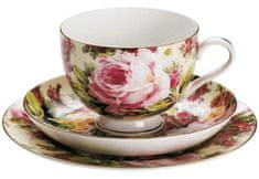 Maxwell & Williams Chintz Bone China Royal šálek, podšálek a dezertní talíř Rambling Rose