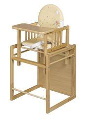 COSING stolček za hranjenje Viktoria + mizica, bukev