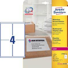 Avery Zweckform etikete L7994-25, 99,1 x 139 mm, 100 kom, vodootporne, bijele