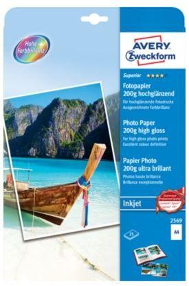 Avery Zweckform foto papir 2569-25, 200 g, visoki sijaj