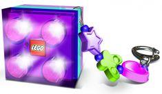 LEGO® Friends obesek za ključe z led lučko, vijolična