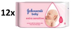 Johnson&Johnson Chusteczki nawilżane Extra Sensitive - 672 szt (3 x 224)