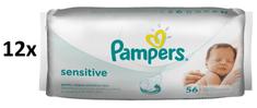 Pampers Chusteczki pielęgnacyjne Sensitive 12x56 szt.