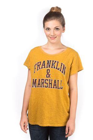 Franklin&Marshall T-shirt damski L zółty