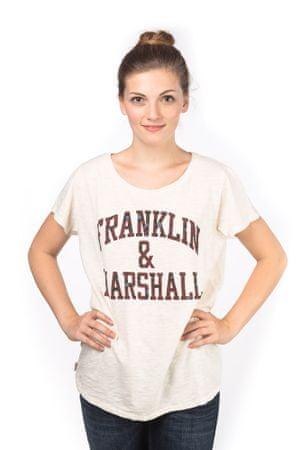 Franklin&Marshall T-shirt damski L kremowy