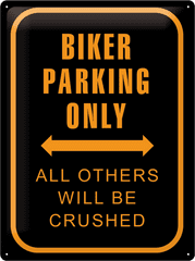Postershop Metalowa tabliczka 30x40 cm Biker Parking Only