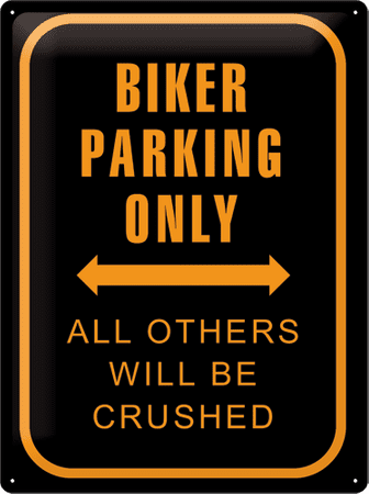 Postershop Plechová cedule 30x40 cm Biker parking only