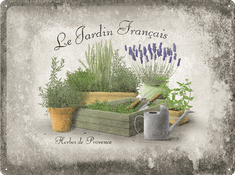 Postershop okrasna tabla Le Jardin Francais 30 x 40 cm