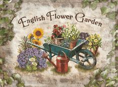 Postershop Plechová cedule 30x40 cm English Flower Garden