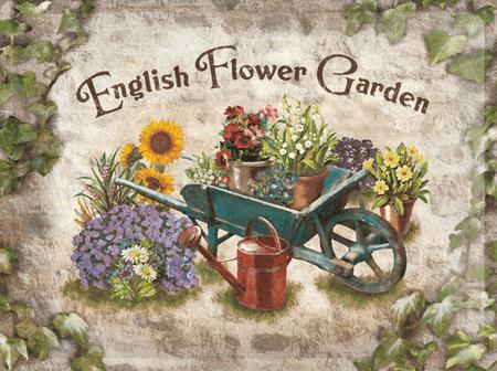Postershop Metalowa tabliczka 30x40 cm English Flower Garden