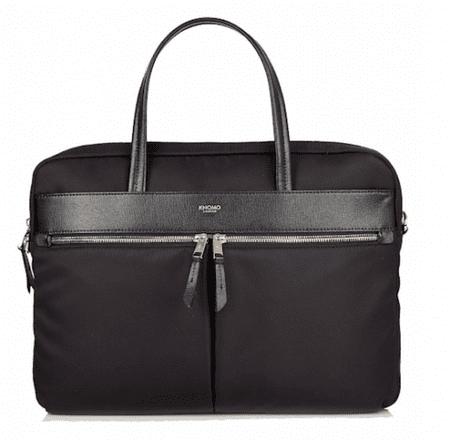 """knomo naramna torba Hanover Slim Brief 14"""", črna"""