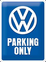 Postershop Metalowa tabliczka 30x40 cm Volkswagen Parking Only