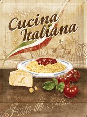 Postershop Metalowa tabliczka 30x40 cm Cucina Italiana