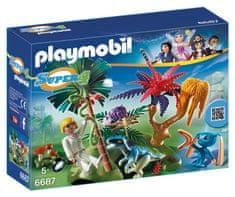 Playmobil 6687 Ztracený ostrov s mimozemšťanem a raptorem