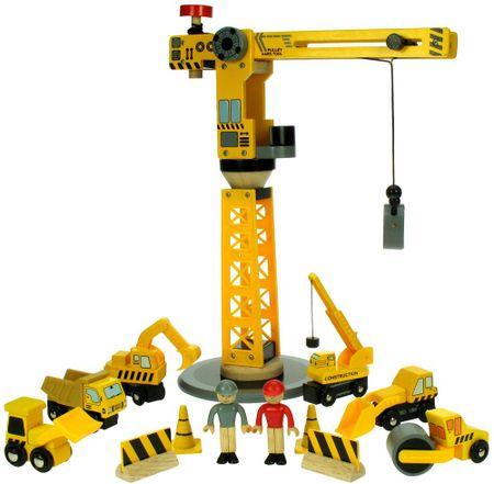 Bigjigs Rail Daru és építőipari gépek