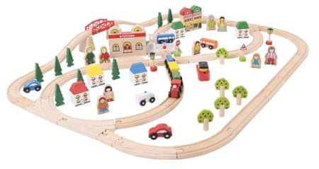 Bigjigs Rail Miasto i wieś 101 elementów